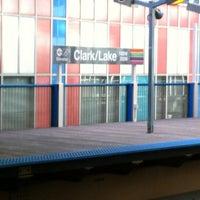 Photo taken at CTA - Clark/Lake by Tom M. on 11/4/2012