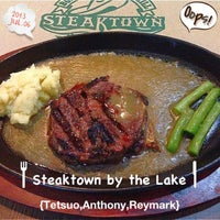 Photo taken at Steaktown by the Lake by Marisol on 7/6/2013