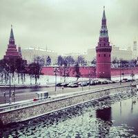 Photo taken at Bolshoy Kamenny Bridge by Anny . on 12/8/2012