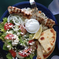Photo taken at Santorini Greek Grill by Leah K. on 6/8/2013