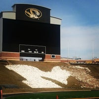 Photo taken at Faurot Field at Memorial Stadium by Ashley C. on 3/15/2013