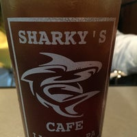 Photo taken at Sharky's Cafe by Ian J. on 7/3/2016