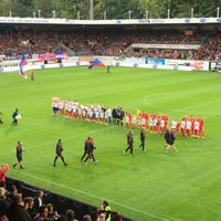 Photo taken at Voith-Arena by Pappklappe on 9/18/2015
