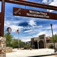 Photo taken at Western Trails Neighborhood Park by Mike H. on 5/8/2016