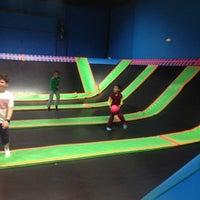 Photo taken at Bounce Trampoline Sports by Pierre L. on 4/17/2015