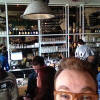Photo taken at Hofman Café by Joey P. on 3/5/2013