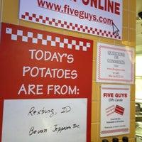 Photo taken at Five Guys by Jason W. on 1/20/2014