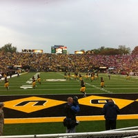 Photo taken at Faurot Field at Memorial Stadium by Julie L. on 10/13/2012