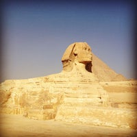 Photo taken at Great Sphinx of Giza by Hambali H. on 1/21/2013