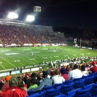 Photo taken at McMahon Stadium by Chris C. on 9/29/2012