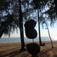 Photo taken at Pantai Puteri by Athirah N. on 5/5/2017