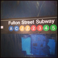 Photo taken at MTA Subway - Fulton St (A/C/J/Z/2/3/4/5) by Izabelle D. on 6/4/2013