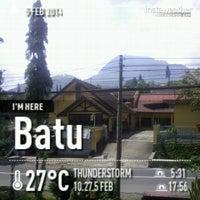 Photo taken at Jl.Trunojoyo,Batu,Malang by Gusty A. on 2/5/2014
