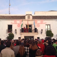 Photo taken at Plaza de la Constitución by Antonio C. on 1/5/2014