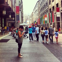 Photo taken at Piazza San Babila by Mirko D. on 6/8/2013