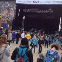 Photo taken at Beale Street Music Festival- Bud Light Stage by Steve C. on 5/4/2013