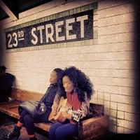 Photo taken at MTA Subway - 23rd St (F/M) by Brad G. on 12/1/2012