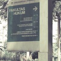 Photo taken at Fakultas Hukum by Ridho Fildo H. on 4/29/2013