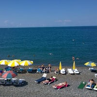 Photo taken at Пляж Айтар | აიტარის პლიაჟი by Kirill Z. on 7/8/2014