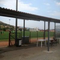 Photo taken at Keraynos Krhnidwn Stadium by Dimitris 🐝 K. on 8/17/2013