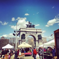 Photo taken at Grand Army Plaza Greenmarket by ted h. on 3/30/2013