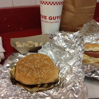 Photo taken at Five Guys by April C. on 11/9/2012