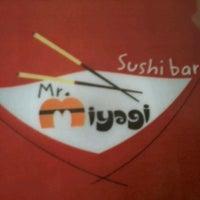 Photo taken at Mr. Miyagi Sushi Bar by Megg T. on 10/4/2012