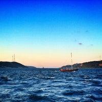 Photo taken at Sarıyer Sahili by Gökay I. on 6/20/2013