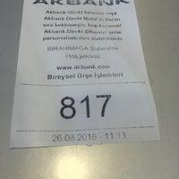 Photo taken at Akbank İbrahimağa Gebze Şubesi by Serdar A. on 8/26/2016