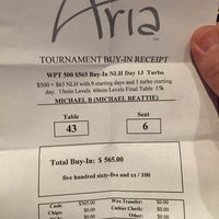 Photo taken at Aria Poker Room by Michael B. on 7/5/2015