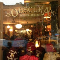 Photo taken at Obscura Antiques and Oddities by Mark S. on 5/18/2013