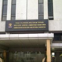 Photo taken at Direktorat Jenderal Administrasi Hukum Umum Kementerian Hukum dan HAM RI by Wient W. on 2/18/2014