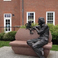 Photo taken at Jim Henson Statue by Zerah J. on 6/11/2013