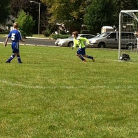 Photo taken at Rotary Park Soccer Fields by Bret T. on 9/21/2013