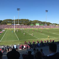 Photo taken at Brookvale Oval by Daniel B. on 8/6/2017