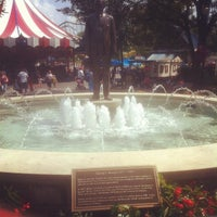 Photo taken at Milton S. Hershey Statue & Fountain by Daven B. on 8/20/2013