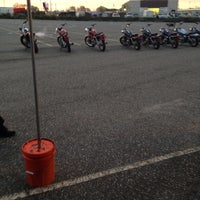 Photo taken at Motorcycle Safety Program Range by NaTasha W. on 10/19/2013