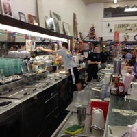 Photo taken at Highland Park Old-Fashioned Soda Fountain by Cynthia J. on 11/3/2012