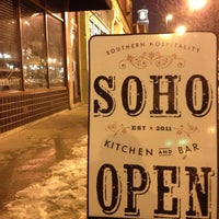 Photo taken at soho chicken + whiskey by Caleb F. on 1/6/2013