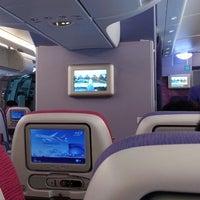 Photo taken at Thai Airways Flight TG 676 BKK-NRT by Hansa T. on 7/9/2014