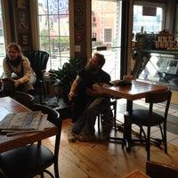 Photo taken at Crackskull's Coffee & Books by Leslie P. on 10/14/2012