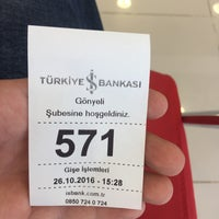 Photo taken at Türkiye İş Bankası by Musa A. on 10/26/2016