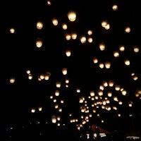 Photo taken at Shifen Sky Lantern Square by Gary W. on 2/24/2013