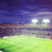 Photo taken at Estadio Universitario by Lucy P. on 10/6/2012