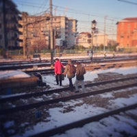 Photo taken at Stazione Novate Milanese by Jacopo F. on 2/14/2013