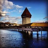 Photo taken at Chapel Bridge by Jacopo F. on 12/30/2012
