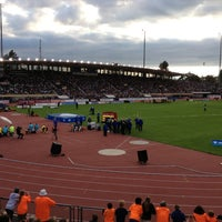 Photo taken at Stade olympique de la Pontaise by Paul D. on 7/4/2013