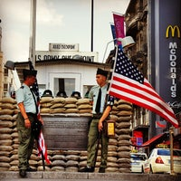 Photo taken at Checkpoint Charlie by Marcio C. on 7/19/2013