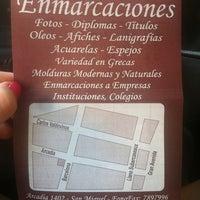 Photo taken at Arcadia Enmarcaciones by Pamela L. on 3/12/2014