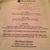 Photo taken at The Rowhouse Restaurant by Roshan V. on 2/20/2014